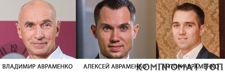Владимир, Алексей и Антон Авраменко