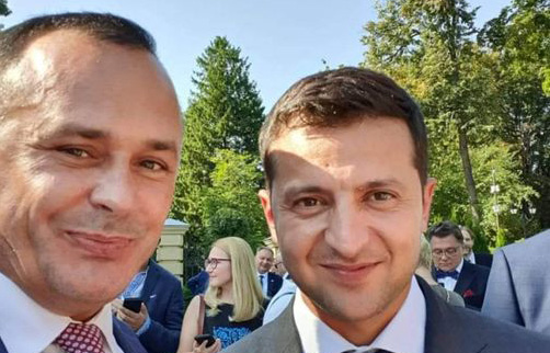 Владимир Саенко и Владимир Зеленский